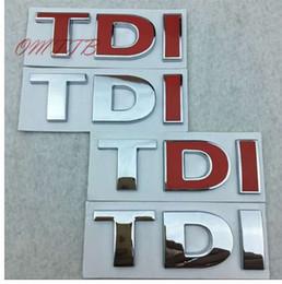 Canada Autocollant voiture styling TDI Badge Emblem Autocollant pour VW Golf JETTA PASSAT MK4 MK5 MK6 cheap tdi emblem badge Offre