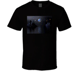 Argentina Cool Art Pictures Moon Water diseño gráfico camiseta Mens 2018 moda marca camiseta O-cuello 100% algodón camiseta Suministro