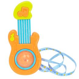 Guitarras de juguete online-Toque Inducción Iluminación Música Eléctrica Juguete Mini Eléctrica Niño Guitarra Primera Infancia Bebé Juguetes Plástico 4 3hy X