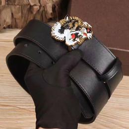 Wholesale Womens Fashion Wide Belts - New Arrival Hot Black Luxury High Quality Designer Belts Fashion Tiger buckle belt mens womens belt ceinture