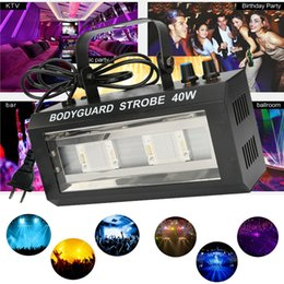 Wholesale wholesale lighting equipment - DJ Equipment Strobe Flash Light LED 40W DJ Lights Stage Party Lighting Sound Controlled Disco for Party Show Xmas Halloween