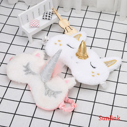 travel eye mask unicorn toy blindfold personalize gift Cartoon Cute Shadow Soft Cover for Girl Kid Teen Traveling Sleep Eyeshade Eye Aid Coupons