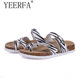 Wholesale Champagne Corks - YEERFA 2017 New Men Sandals Fashion Shoes Slippers Flip Flops Easeful Cork Sandals Summer Beach Shoes Slides Size 35-43