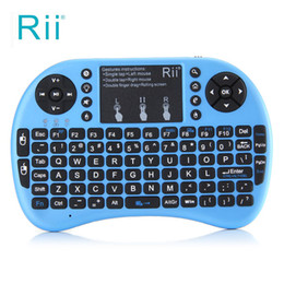 Wholesale Multi Function Meters - Rii i8+ 2.4G Mini Keyboar With Multi-touch up to 15 Meter Wirelessd Touchpad DPI Adjustable Functions 92 Keys QWERTY Keyboards
