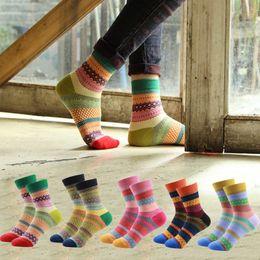 Wholesale fashion nation - Fashion Designer Women Retro Socks Color Russia Nation Classic Vintage Striped Colorful Female Knit Novelty Socks Warm Short Sox