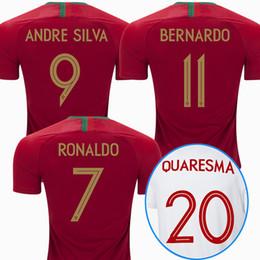 Wholesale Shirt Mario - 2018 PORTUGAL soccer jersey world cup RONALDO home away black football shirt J MOUTINHO Camisa de futebol J MARIO QUARESMA maillot de foot