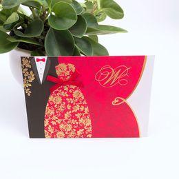 Shop classic wedding invitations cards uk classic wedding 50pcs red and black chinese style classic bride and groom wedding invitation card customize wedding decoration supplies stopboris Choice Image