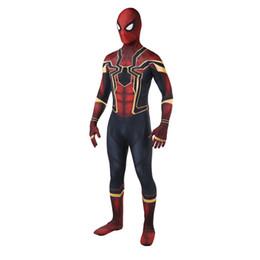 2019 trajes zentai Venda quente de alta qualidade adulto Mens Halloween Halloween Spiderman traje Lycra zentai SuperHero tema traje cosplay terno de corpo inteiro desconto trajes zentai