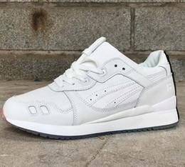 Мода гель Lyte III Мужчины Женщины новые Повседневная обувь легкий 3 мужской женский онлайн кроссовки размер 36-45 для продажи cheap casual sneakers online от Поставщики повседневные кроссовки онлайн