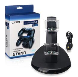 PS4 Oyun konsolu için Gamepad LED Çift USB Şarj Dock Montaj Standı Tutucu nereden