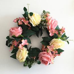 658dc2d081d4 лот искусственный шелк роза цветок веточка венок для свадьбы двери венок  украшения