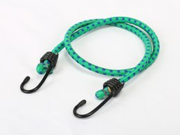 Wholesale Luggage Bands - Factory Direct Luggage Packing Elastic Rope Bungee Cord Rubber Band Strap Binding Rope Tie-down Set with 2 Hooks 8mm Double Color