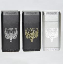 Mais novo Vaperz Nuvem Martelo de Deus V4 Box Mod Cigarro Eletrônico enorme Poder Martelo de Deus 4 510 Vape Mod para RDA RTA RDTA Atomizador Kit de