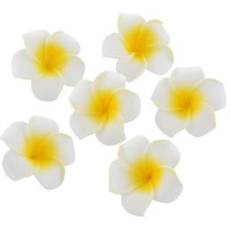 Decorazioni hawaiane online-100 pz / lotto 4 cm all'ingrosso plumeria hawaiana schiuma fiore di frangipane per la festa nuziale bouquet di fiori decorazione