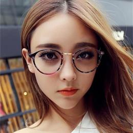 designer óculos quadros para homens Desconto Ao ar livre Retro Moda Eyewear Homens E Mulheres Designer Estilo College Eyeglass Quadro Circular Plain Glasses Venda Quente 5 5bz Ww