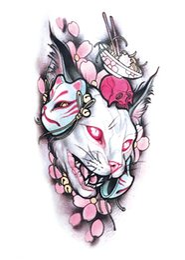chat d'eau autocollant Promotion Autocollant de tatouage temporaire grande taille art corporel fleur Moonlight Cat Dieu transfert de l'eau Faux tatouage Flash tatouage pour femmes hommes
