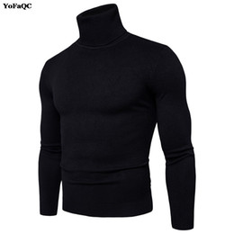 Wholesale Mens Wool Sweater Xxl - 2017 Brand Winter Mens Sweaters and Pullovers Men Turtle Neck Sweater Male Outerwear Jumper Knitted Turtleneck Sweaters M-XXL