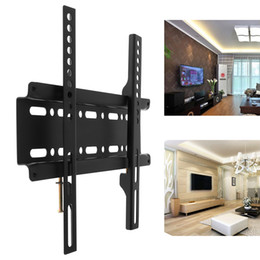 Wholesale Tv Wall Panelling - Universal TV Wall Mount Bracket Fixed Flat Panel TV Frame for 12-37 Inch LCD LED Monitor Flat Panel HMP_60C