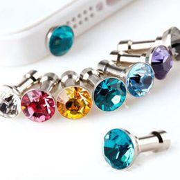 auriculares 3d Rebajas Accesorios para teléfonos móviles universales Diamond Crystal 3.5mm enchufe para auriculares Enchufe antipolvo para Apple Iphone Samsung 41