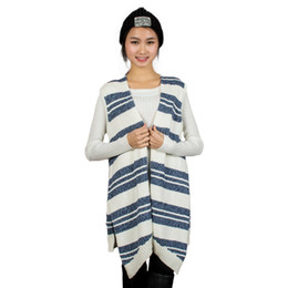 f598df32763d8c China Hot Fashion Spring Autumn Women Long Style Plus Size Casual  Sleeveless Knitted Cardigan Sweater Knitwear