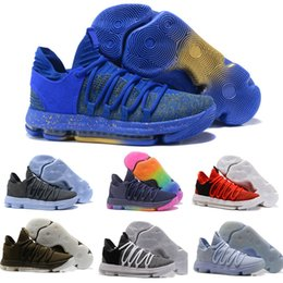 purchase cheap 71ac1 687a6 2018 hot Zoom KD 10 Multi-Color Oreo Numbers BHM Igloo Men Basketball Shoes  Elite Mid Kevin Durant Sports Sneakers couple shoes