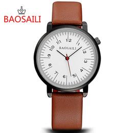 BSL1021 BAOSAILI Escalas de la marca Face Japan Movt Simple Unisex Hombres Relojes de pulsera Reloj de moda desde fabricantes