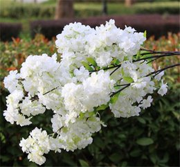 Wholesale artificial flowering trees - Artificial Flowers Cherry Blossom Stems Fake Sakura Tree Branches 100cm long for wedding Party Home tree decoration
