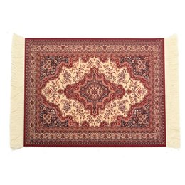 Wholesale Rubber Carpet Pads - 180 x 280mm Carpet Woven Rug Gaming Mouse Pad Vintage Persian Style Mouse Mat Mat Gift For Computer Game