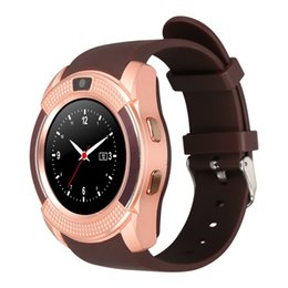 Wholesale Android Systems - V8 Smart Watch Bluetooth SmartWatch With 0.3M Camera SIM IPS HD Full Circle Display Smart Watch For Android System With Retail Box