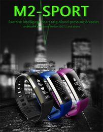 Wholesale Oxygen Blue - M2 Pro Smart Wristband Fitness Tracker Bracelets Heart Rate Blood Pressure Watch Pulse Meter Oxygen Waterproof SMS Call Sport Band