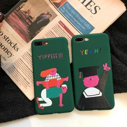 casos de personagens Desconto Para iphone x phone cases criativos personagens engraçados de silicone all-inclusive matte sensação clara padrão celular case para iphone 6 7 8 além de