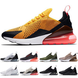 Wholesale Hot Mesh - 270 Bruce Lee Teal Triple Black White Brown Medium Olive Navy Hot Punch 27C Photo Blue mens Running Shoes for men 270s sports sneakers women