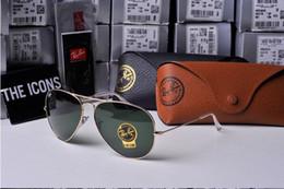 Wholesale mirror aviator glasses - 2018 New Vintage Aviator Sunglasses Pilot RAY Men Women UV400 Band Polarized BEN Gafas Mirror Lenses Sun Glasses BANS with cases