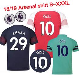 d3ce734ce Thailand AAA+ Arsenal soccer jersey 2018 2019 AUBAMEYANG OZIL JERSEY 18 19  LACAZETTE TORREIRA football kit Top MEN and KIDS SET soccer shirt