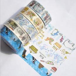 3m nastri di mascheratura online--2016 Vendita a caldo 3M. Strumenti di nastro adesivo di carta serie Sweet Animal Animal Masking Tape.zakka Strumenti per strumenti adesivi fai da te