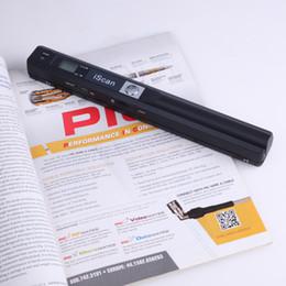 2019 tragbarer dokumentenbuchscanner Tragbarer Scanner 900DPI JPG- und PDF-Format A4-Buchscanner Iscan Mini-Handheld-Dokumentenscanner rabatt tragbarer dokumentenbuchscanner