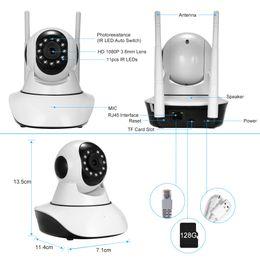 nuit caméra ptz Promotion 1080 P Caméra de Sécurité WiFi Caméra IP Support P2P Téléphone APP Télécommande Vue de Nuit PTZ Baby Monitor Surveillance À Domicile