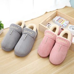 Wholesale Wholesale Ladies Slippers - warm winter fashion women men shoe shoes cotton outdoor slipper slippers designer snow boot boots lovers ladies lady plush fur covered hell