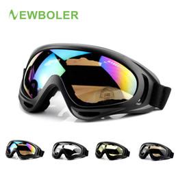 Wholesale downhill glass - NEWBOLER MTB Glasses Off Road Racing Motocross glasses Man Woman DH Downhill Dirt Mountain Bike Bicycle Cycling 4 Colors