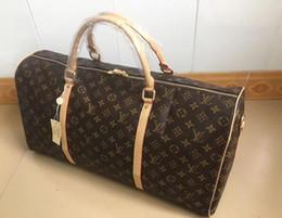 Wholesale Sports Bag Luggage - 2018 new fashion men women travel bag duffle bag, brand designer luggage handbags large capacity sport bag 60CM