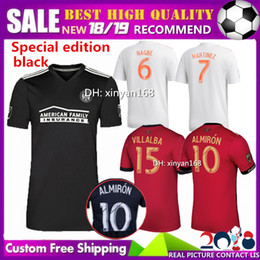 93637fdcdfb 18 19 Atlanta United home soccer jersey black Special edition 2018 2019 FC  ALMIRON MARTINEZ BARCO NAGBE VILLALBA MCCANN away football shirts