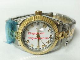 b354e488cb52 2018 Nuevos relojes de lujo para mujer Damas de oro de 18 kt. Acero  inoxidable 31mm 179163 178273 Reloj de pulsera de oro blanco con esfera  romana de 8 kt.