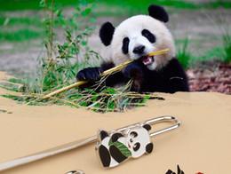 Argentina Panda Bookmark regalo de estudiante Regalos culturales chinos Marcador de lectura con bolso de opp Recuerdo de estilo de China El mejor regalo Suministro