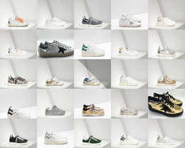 Wholesale Golden Mahogany - Italy brand do the old shoes Genuine leather Golden Goose GGDB casual Calf Suede GREEN SUEDE WHITE SO Men and women Shoes superstar shoes