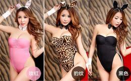 2019 uniforme de juego de rol Lencería sexy Exotic Bunny Costume Role Playing Clothing Cosplay Lencería Sexy Lace Rabbit Uniforms Disfraces Productos del sexo uniforme de juego de rol baratos