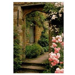 3x5ft Foto Kulisse Vinyl Faltbare Hintergrund Rosa Rose Brick Arch Tür Hintergrund für Fotografen Hintergrund für Hochzeit P von Fabrikanten