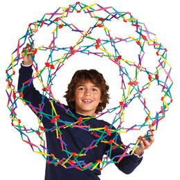 Wholesale Glow Toys Flower - Hoberman Mini Sphere Expanding Universe Glow Toy without light plastic Flower Ball rainbow colorful flower magic ball kids Sports Toys
