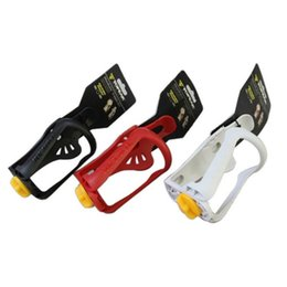 Wholesale Black Red White Bottle Cage - Plastic Bicycle Water Bottle Cages Four Colors Adjustable Kettle Rack Portable Bike Cup Holder Hot Sale 1 9at B