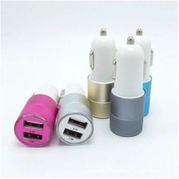 Wholesale Phone Recorder Iphone - Car Charger The Best Metal Mine Dual USB Port Car Charger 2.1A Output 1A Mobile Phone Tablet Computer Traffic Recorder Vehicle Charging