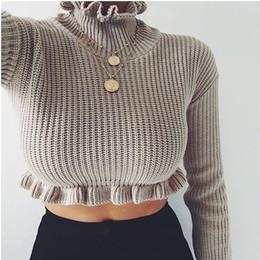 0b5788882f2b6e rüsche mäntel frauen Rabatt Kurze 2019 Neue Ankunft Winter Mode Frauen  Damen Pullover Mäntel Top Sweatshirts